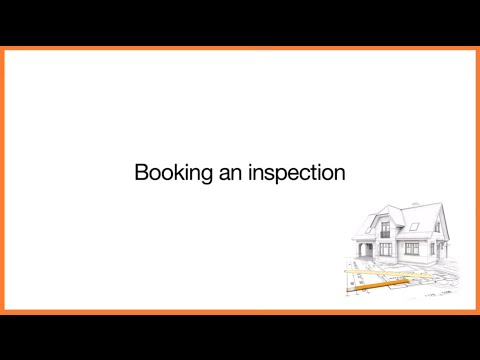 Building Control: Booking an inspection
