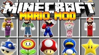 Minecraft SUPER MARIO MOD / BECOME MARIO AND DEFEAT BOWSER IN MUSHROOM KINGDOM!! Minecraft