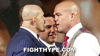 (BEEF!) CHUCK LIDDELL VS. TITO ORTIZ 3 FULL PRESS CONFERENCE AND HEATED FACE OFF