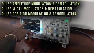 PAM, PWM, PPM - Analog communication lab - tutorial by Mr.Shashi