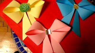 Украшения из бумаги,Handmade,,Бабочки.ქაღალდის ბანტი.