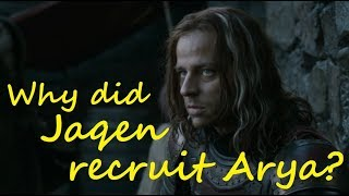 Why did Jaqen recruit Arya? (Game of Thrones, ASOIAF)