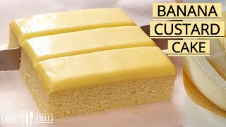 Ditch the Banana Bread and make THIS instead! Banana Custard Cake
