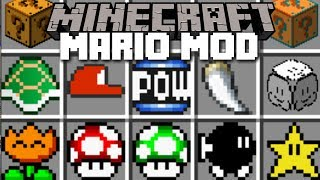 Minecraft MARIO MOD / SAVE THE VILLAGERS FROM BOWSER!! Minecraft