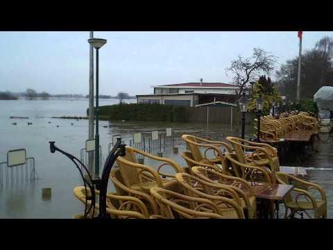 Hoogwater van de Maas in Maashees