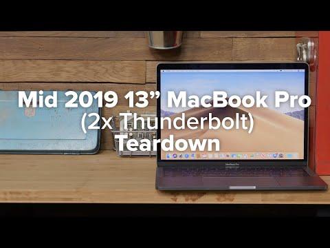 13″ MacBook Pro Mid 2019  (2x Thunderbolt) Teardown!