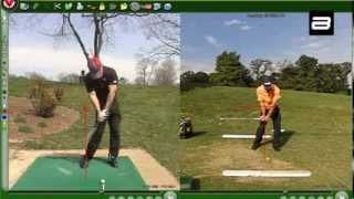 How Ben Hogan starts the down-swing correctly vs incorrectly