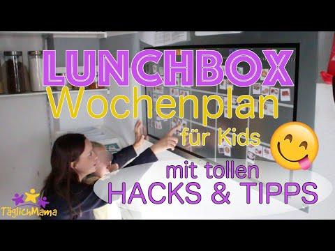 DIY LUNCHBOX Wochenplan + tolle HACKS & TIPPS für die Brotbox
