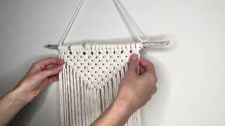 Macrame Wall Hanging | Beginner Wall Hanging | Macrame Tutorial