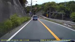 兵庫県神戸市 県道52号線 ステルス式ネズミ捕り レーダー探知機反応しまくり SCR100WF
