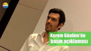 Kerem Gönlüm'ün Basın Açıklaması