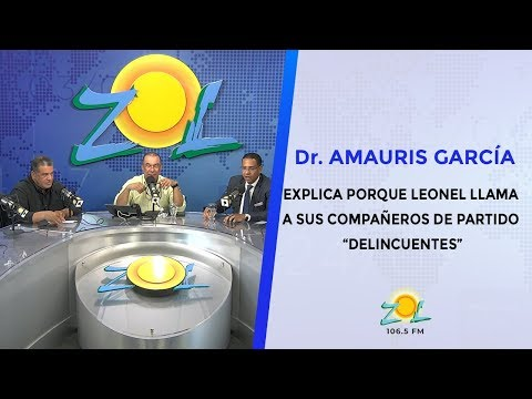 """Dr. Amauris Garcia explica porque Leonel llama a sus compañeros de partido """"delincuentes"""""""