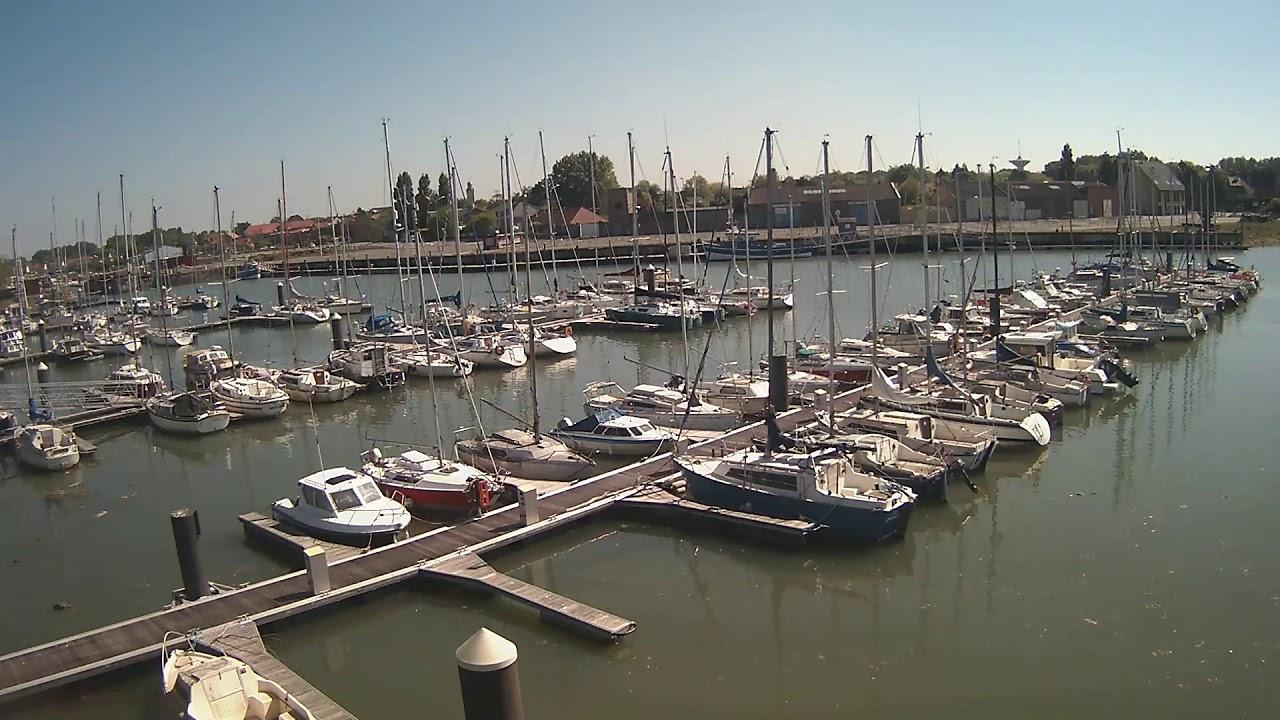 Webcam en direct du port de plaisance de Gravelines
