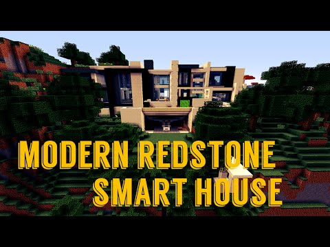 Modern Redstone Smart House Minecraft Project - Minecraft hauser pocket edition