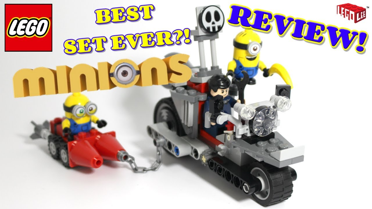 LEGO Minions The Rise of Gru Unstoppable Bike Chase REVIEW - set 75549