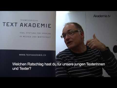 CAS Texter / CAS Texterin: Marcel Hähni, Dozent