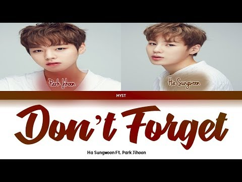 Ha Sungwoon Ft.  Park Jihoon - Don't Forget (Color Coded Lyrics HAN|ROM|INDO) Sub Indo