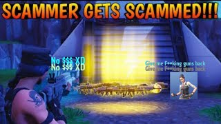 Stupid scammer get scammed hard Fortnite save the world
