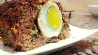 Viande hachée farcie aux œufs durs (Polpettone / Pain de viande)