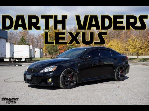 DARTH VADER's Lexus ISF – Custom Exhaust Pure Sound