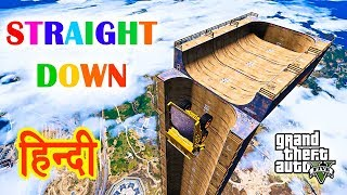 GTA 5 - STRAIGHT DOWN RAMP Experiment With Trevor
