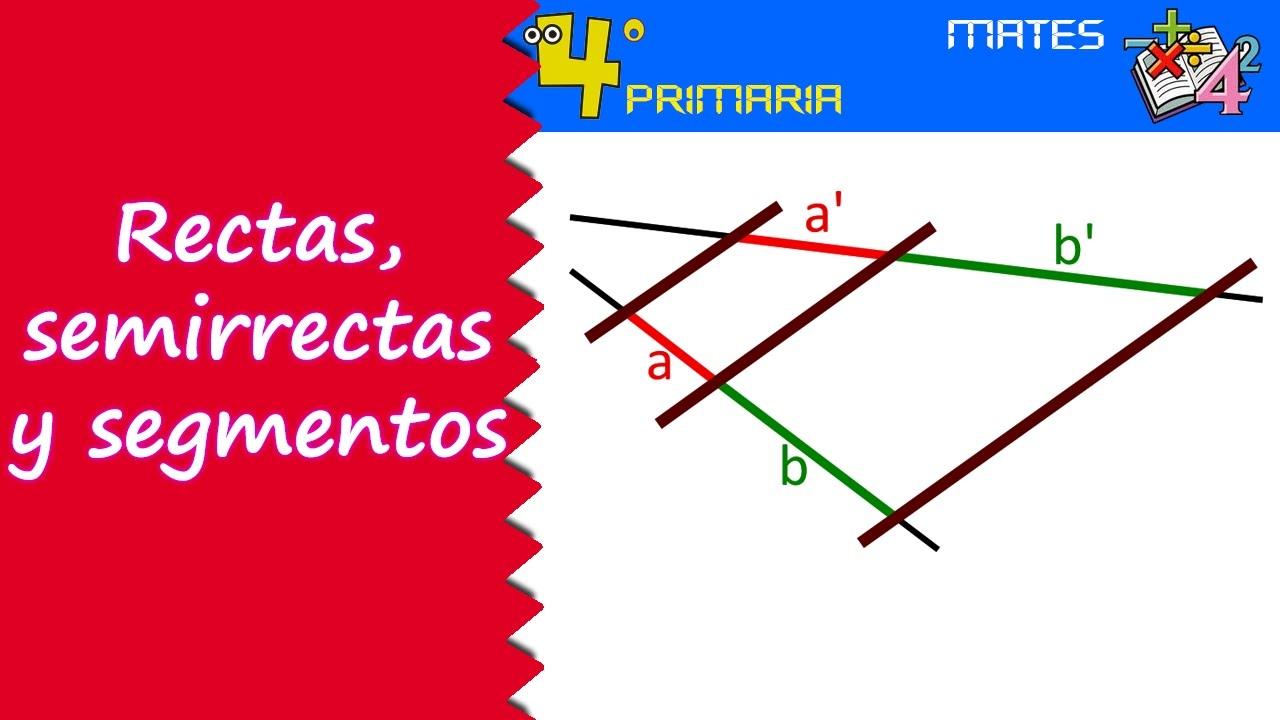 Matemáticas. 4º Primaria. Tema 12. Segmentos, semirrectas y rectas