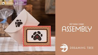 Free SVG - Pet Paw Card - Assembly Tutorial
