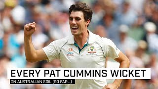 All 71 Test wickets taken by Pat Cummins in Australia (so far)