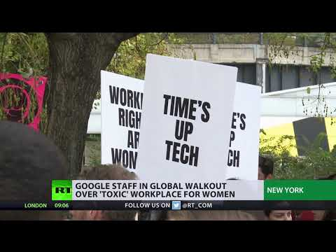 Time's up tech: Google staff stage walkout over sexual harassment