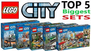 Lego City Top 5 Biggest Sets Of All Time - Lego Speed Build Review