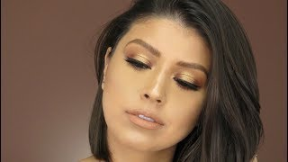 Simple Golden Halo Eye Look | Feat. ABH Soft Glam Palette