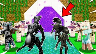 Minecraft: INSANE ALIEN DEFENSE! (ALIENS ARE INVADING!) Modded Mini-Game