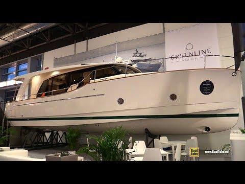 2018 Greenline 40 Hybrid Motor Yacht - Walkaround - 2018 Boot Dusseldorf Boat Show