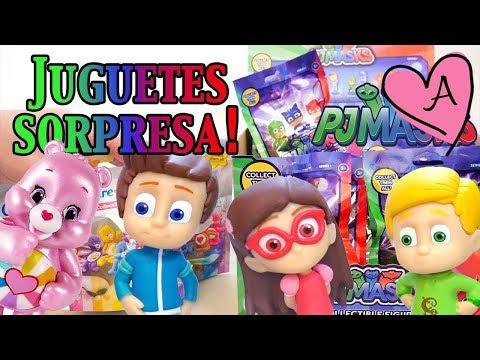 Juguetes sorpresa de Héroes en pijamas y Ositos cariñositos - PJ Masks y Care Bears en español