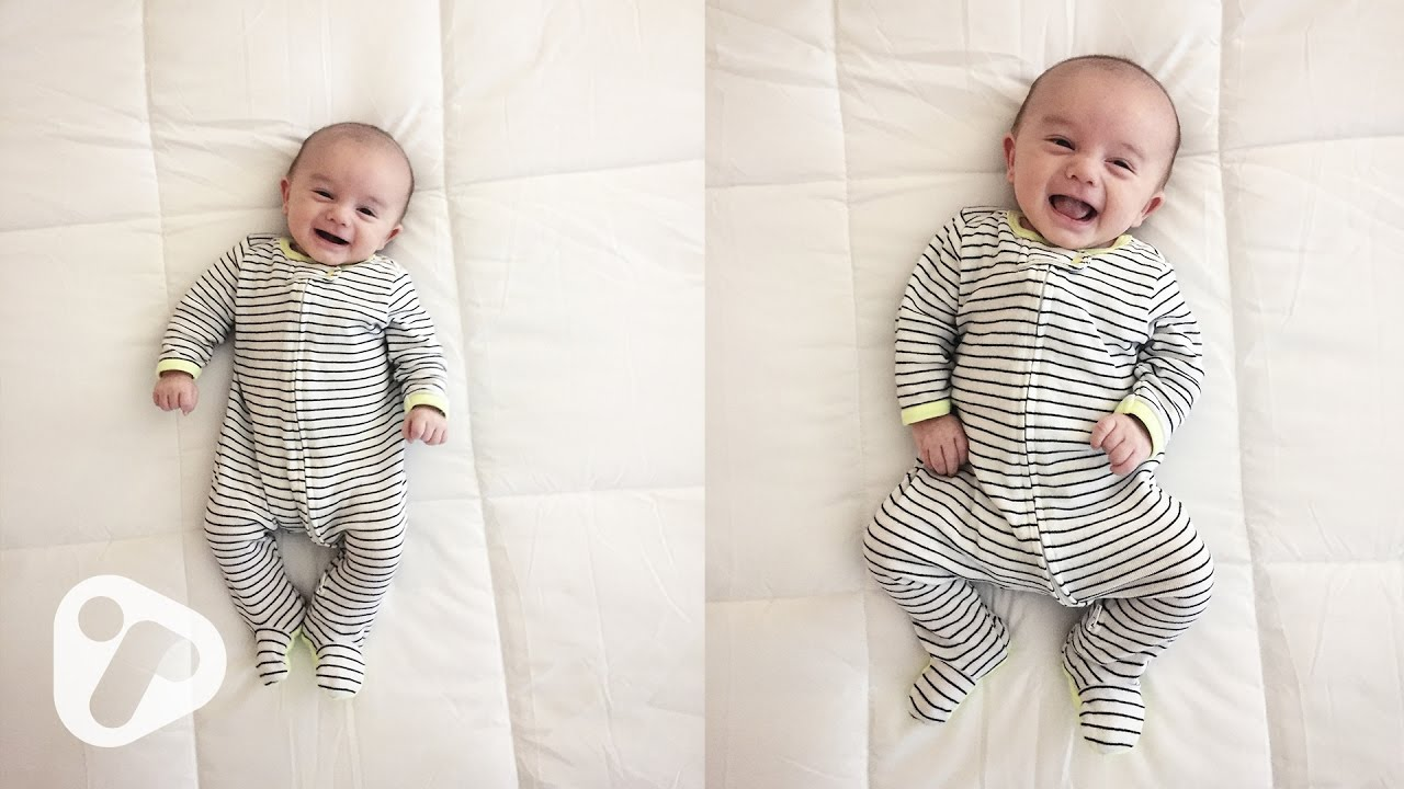 7 Week Old Baby – Smiling, Cooing and Happy Sounds