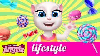 Talking Angela – Trying out Candy Around the World
