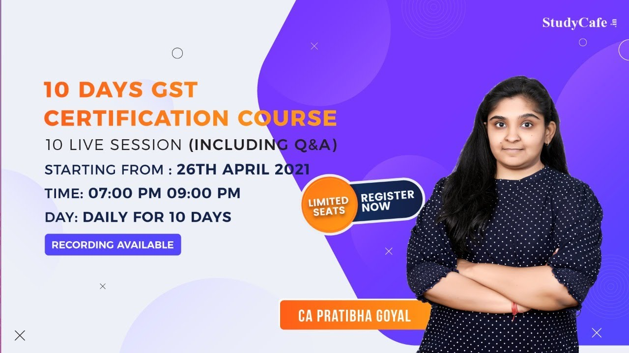 Online GST Certification Course by Studycafe