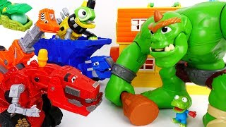 Let's Trux It Up~! Go Go Dinotrux Stop The Hungry Ogre - ToyMart TV