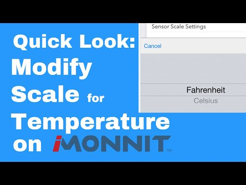 how to modify the temperature scale on iMonnit