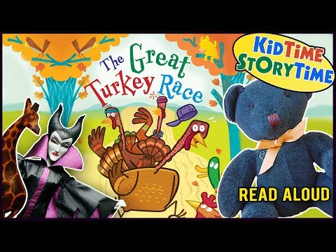 THE GREAT TURKEY RACE | Thanksgiving Day Story | Kids Books Read Aloud