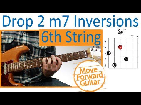 Guitar Chord Inversions - Drop 2 m7 - 6th String