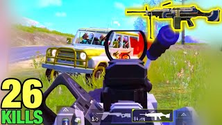 BEST KILL with M249 | Crown 1 -  Solo vs Squad | PUBG MOBILE