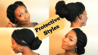 Quick and Easy Protective Styles for Natural Hair