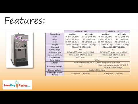 Stoelting F111 Futura Single Flavor Countertop Frozen Yogurt-Soft Serve Ice Cream Machine