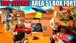 Area 51 Box Fort TOP SECRET! We Found Them ALIENS (Nerf War)