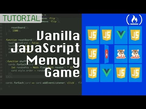 Memory Card Game – JavaScript Tutorial