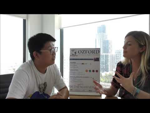 Ozford Katie chats with past Bachelor of Business (Accounting) student, Cheng!