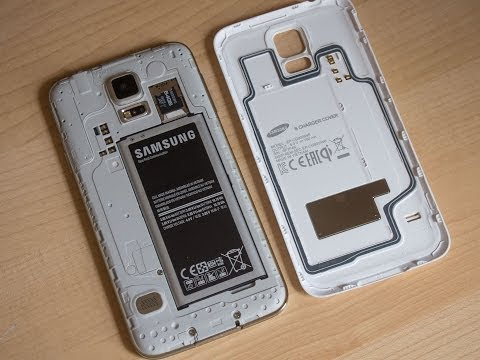 Samsung Galaxy S5 official wireless charging cover hands-on