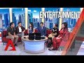 Crazy Rich Asians stars Henry Golding, Fiona Xie and director Jon M Chu in Channel NewsAsia studio