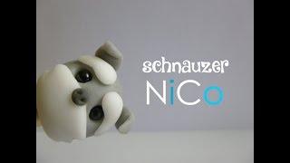Perro Schnauzer De Cerámica Fría - Schnauzer Dog Of Polymer Clay | Fácil